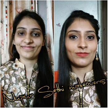 Happyclient#happyme#simplyprettylook#traditionlook#rocamakep#before/after#makeupbynupur#muadelhi#muaindia#makeuplover#makeupforever #roposo-makeupandfashiondiaries #roposo love😍😘💋