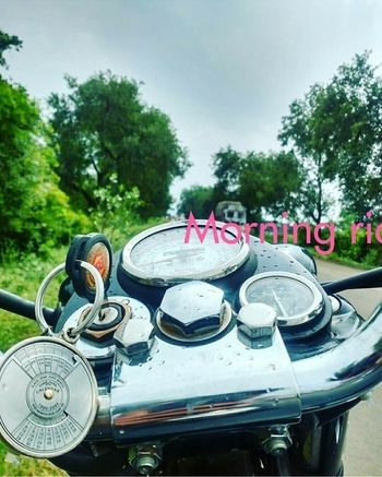 morning ride #bullet bike lover  weather 😍