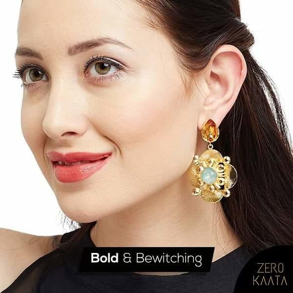 Surprise your bae with the glorious topaz and lake blue opal embellished earrings for an artistic appeal.   Shop them here: https://goo.gl/VeUP73  #jewelrygram #jewels #design  #jewelryaddict #necklace #trendy #gems #stone #ootd #gold #accessories #golden #crystal #blingbling #jewelry #style #prilaga #gemstones #jewelery #crystals #beautiful #jewellery #fashionjewelry  #stones