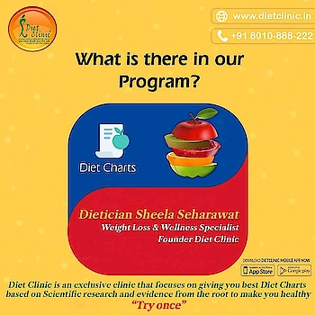 "What is there in our programme?   Join diet clinic Gujranwala town #Call us at:- 8800997701/03 Address:- 224 Gujranwala town part 3 North Delhi 110009  #Toll Free: 8010-888-222  #Give Miscall : 9266888222  WhatsApp < your Name> <space > < your City> to 88-2626-0707 sms DIET to 56161 Website- www.dietclinic.in Visit www.DietClinic.co.in  #diet #dietplan #dietfood #dietitianapproved #dietitian #fitness #fit #slim #health #healthy #healthyfood #franchise #businesspartner #dietclinic #dietclinics #dietclinicnorthdelhi#dietclinicgujranwalatown#dietclinicapp  Download your own DietClinic mobile app and get our healthy weight loss, PCOS, Thyroid, Diabetic, Kids, Post Delivery, Detox or Kito Diet Plans.   DietClinic app offer one to one video chat with Dietician; keep u updated on health and wellness tips, blogs, recipes for healthy weight loss; download app now and let's dicuss your health issues.    Android - http://bit.ly/dietclinic-andriod    iOS- http://bit.ly/dietcliniciosapp   Thanks  www.clinic.diet  www.DietClinic.in    As Dietitian Sheela Seharawat says ""Let Your Diet Work for you"""
