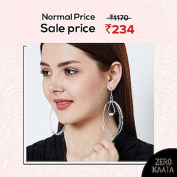 """☠ END IS NEAR ☠ . . 😁"""" A Never Before Event, Grab Your Favourite Earrings at Flat 80% Off """" 😁 . . India's Biggest Earrings Sale only on ZeroKaata😍😍 . SHOP NOW for Unique and Skin Friendly Designs at Flat 80% Off . . Visit www.zerokaata.com . . #jewellery #jewelry #jewelrysale #jewellrydesign #earringsale #earringshop #earringsogood #giveaway #fashionblogger #jewelleryshop #JewelleryBlog #sales #NecklaceHandmade #earringshandemade #jewelrymaking #jewelleryaddict #jewellerygram #jewellerysale #IndiasBiggestJewellerySale  #sale #dresses"""