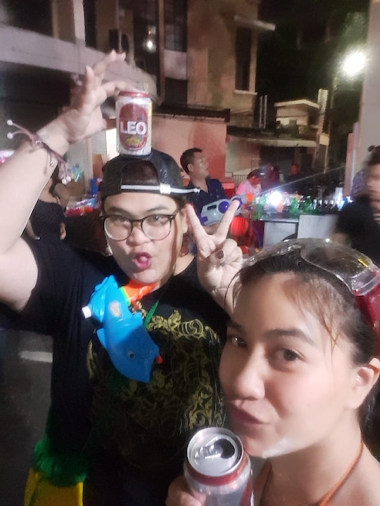 Last day of Songkran festival in thailand ,, Happy new year 😊
