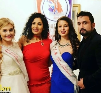 #MissHeritageInternational #Jury with #Resh.. #SantoshSapkota #Kind Thanks.. #Miss Denmark #Miss Australia   #pageantworld