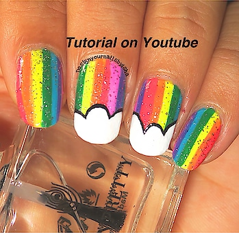 Rainbow 🌈 Nail Design 💅🏼 Tutorial is up on my YouTube channel, link is in the bio👆 Go watch it, show some love 💖 and dont forget to hit the Subscribe button 😌 . #designyournailsbyisha  #ishanailart #nails #nailstoinspire #nailswag #blogger #youtuber #nailblogger #naillook #nailpolishaddict #promotenails #nailartjunkie #stripingbrushnailart #nailartblogger #rainbownails #cloudsnailart #nailartclub #freehandnailart #nailsartm #nailitdaily #roposonails #soroposo #roposofashion #roposostyle #roposoblogger