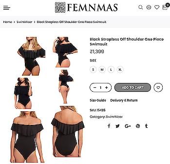 Black Strapless Swimsuit By FemNmas Shop Now - https://goo.gl/zT2yFd ————————————— #blackswimsuit #blackswimwear #swimsuit #swimsuiforsale #onepiece #onepieceswimwear #swimwearindia #swimsuitindia