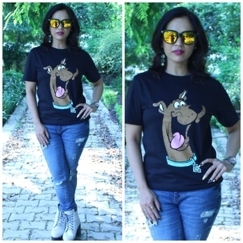 I'm totally loving this cute Scooby Doo tee from @thesouledstore 😻. Scooby Doo is definitely one of my favourite cartoon characters so when I saw some Scooby Doo merchandise @thesouledstore , I immediately placed my order. You guys should check out their website for some amazing products!! . . . . . #bespokegrub #indianblogger #lucknowblogger #fashionblogger #fashionbloggersofindia #fashionstyle #Plixxo #plixxoblogger #thesouledstore #scoobydoo