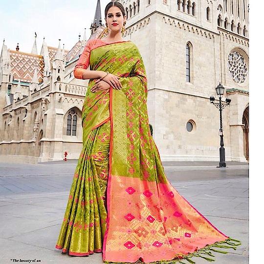 Light Green Banarasi Silk Party Wear Saree  Product code - FCS1137 Available at www.fashionclozet.com  Watsapp - +91 9930777376 Email -  info@fashionclozet.com Or DM for enquiries. #indianwear #indianfashion #indianwedding #instagram #saree #beautiful #bollywood #sari #mumbai #indianstyle #banarasisaree #punjabisuits #indowestern #bridalsarees #banarasidupatta #designerwear #saree #punjabiweddings  ##kanjivaram #blogger #fashionblogger #weddingphotography #kanjivaramsilksaree #weddingphotographer #2019 #bridallehengas  #indianfashion  #indianwedding #gharara