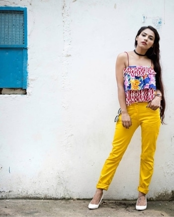 BOLD N BRIGHT 💛 . Tap the link in my bio and take a look on how you can perfectly  pair these yellow pants and rock your casuals. . Have you checked it yet ?? . . . . . . #iknowcovergirl #fblogger #delhifashionblogger #fashion #indianfashionblogger #mymyntralook #fashionblogger #fashiondiaries #wooplristas #blogger #style #editorial #fashioneditorial #ottd #stylish #model #yellow4wooplr #wooplrxyou #wooplrise #wooplrinfluencer #photography #sdmdaily #plixxo #plixxobypopxo #fashionphotography #fashionmodel #styleblogger #wooplrising #wooplrxyou #wooplristas #myntra