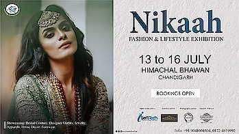 "Punjab's favourite & much awaited Exhibition is back....  Presenting   ""NIKAAH"" July EDIT  Stay online for more details...!!!!!   13-16 July Himachal Bhawan, Chandigarh  Brought to you by  @nehaamitsinglaofficial  @singla.amit08  @amilliondollaraffair   Thanksgiving to our associate partners @deepikasdeepclicks @manimuktaajewels @landmarkdesignerstudio  #nikah #nikaah #amilliondollaraffair #fashion #lifestyle #festival #festivals #festivalofindia #india #exhibition #blogger #jewelry #designer #apparels #outfits #traditional #wear #footwear #home #decor #furnishings #accessories #instalove #instagood #instagram #insta #nehaamitsingla #amilliondollaraffair"