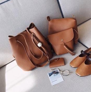 Tan Brown Sling Combo of 4 Bags.  #sling #bag #slingbag #baglove #bags #baglove #baglover #loveforbags #baglovers #elegant #trendy #stylish #basic #thebagbank