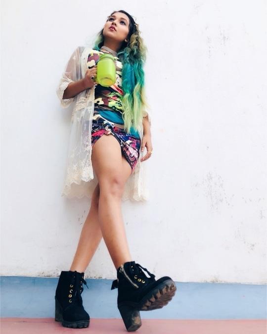Vision 😉 Military print dress: @amajesticvogue . #fashionblogger #roposo #soroposo #amajesticmind #roposoinfluenser #roposoblogger #youtuber #photography #amajesticvogue #kolkatagram #indianfashionblogger #kolkatablogger #styleblogger #trendsetter #bloggergirl #beautylover #greenhair #likes #likes4likes #likesforfollow #likesforfollow #followforfollow #trendygirl #bloggergirl #bloggerimage #styler #fashionable #pretty #delhiblogger #mumbaiblogger #blogging #popxoblognetwork #cosmopolitian #popxoblognetworkkolkata #supercoolstyle