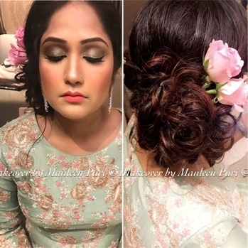 """Beauty is about enhancing what you already have"" Look 2 for this gorgeousness! #roses #messyhair #dewyskin . . Bookings open! Call at 9910192751 and block your dates now!  #popxowedding #zowed #wedilicious #weddingsutra #shaadisaga #shaadimagic #bigindianwedding #wedmegood #weddingchamber #weddingzin #wedabout #weddings #bride #bridesofindia #indianweddings  #indianbride #picoftheday #photooftheday #pictureoftheday #beautiful #beauty #eyes #indianwedding #weddingphotography #makeoverbymanleen #lovewhatido #tygod ❤️🙏🏻"