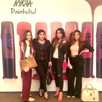Had a lovely time with my girls at the Nykaa Paintstix launch yesterday! 💄  #makeup #beauty #makeuptutorial #makeupaddict #look #love #nofilter #makeuplover #soroposo #colorful #makeupaddict #style #amazing #indian #beautyblogger #makeuplover #makeup #youtuber #fashionblogger #fashion #ootd #outfit #outfits #fashion #nykaa #lipstick #heels #shoes
