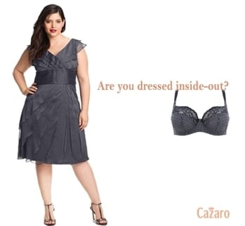 Are you dressed inside-out? Wear a gorgeous bra and feel the difference. :) #InnerBeauty #InnerStrength #Lingerie #InnerConfidence #PerfectFits #Fashionista #FashionStatement #Cazaro #CazaroLingerie #CelebrityStyle #GoodBras #BeBeautiful #stayclassy #DressForSuccess