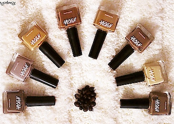"""Love coffee?? Well, now you can have 8 flavours Errrr.. Shades on your nails from the new @nykaabeauty Coffee Collection!! I already have a few favourites! 😍 A review and video will be coming soon! 🧡 """"Sunrise with Coffee"""" @mynykaa   . . . . #nykaabeauty #nykaa #CoffeeWithNykaa #NykaaBeauty #NykaaNails #coffeenailpaints #coffeeshades #nykaacoffeecollection #nailpaints #newlaunch #nudenailpaints #beauty #makeup #beautyandmakeup #beautyblogger #indianbeautyblogger #rougepouts"""