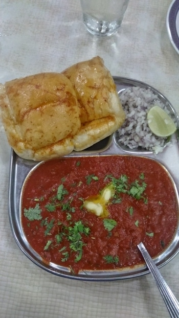 Garam Pav bhaji in this weather is perfect #foodiesofindia   What's on your monsoon indulgence list?  #food