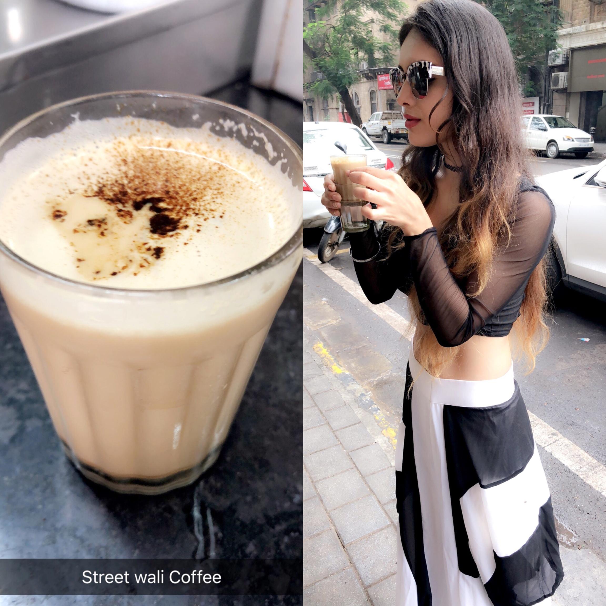 Sunday Happy Shoot day ... 😍😍😍 Enjoying #streetcoffee in #town ☕️ : #sundayvibes #happysunday #shoot #shooting #shootingday #happyday #happymode #vibes #coffee #streetstyle #mumbaistreets #mumbai #bombay #beauty #love #candid #candidshots #fashioninsta #nehamalik #model #actor #blogger