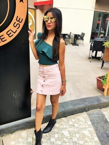 New blog up on www.fashionistha.com URL https://www.fashionistha.com/blushing-in-one-shoulder-top/ #fashionblogger #puneblogger #fashionistha
