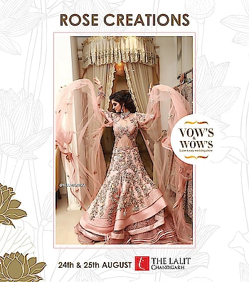 ROSE CREATIONS presents Show-Stopper Bridal Couture for the flamboyant bride & groom! Shop for this extravagant collection at VOW'S & WOW'S. 24TH - 25TH AUGUST. THE LALIT, CHANDIGARH. #6DaysToGo @amilliondollaraffairevents  @nehaamitsinglaofficial  @thelalitchandigarh  #exhibitionchandigarh #eventsinchandigarh #exhibition #TheLalit #chandigarh #love #Bridaldesigns #BridalFashion #outfits #designer #lehenga #embroidery #ghagracholi #weddingdress #lehengadesign #bandhanidress #groom #festival #Wedding #collection #aamantra #amilliondollaraffair #bride