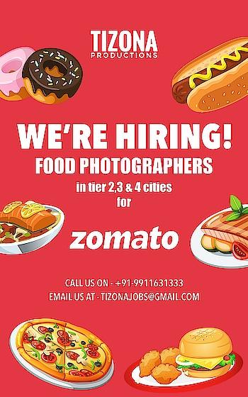 #hiring #photographers #zomato