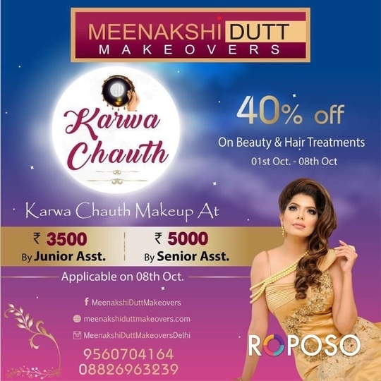 #bestmakeupartistindelhi #mua #makeup #salon #meenakshidutt #roposodutts #bridalmakeup #Hi! you can call us between 11.30am to 7pm for details, we are at Club Road, Punjabi Bagh and Shivalik main road, near Panchsheel Park South Delhi call at : 9560704164 ,08826963239 or 01147563972 ,01147563973, 01141755112, 01141755111