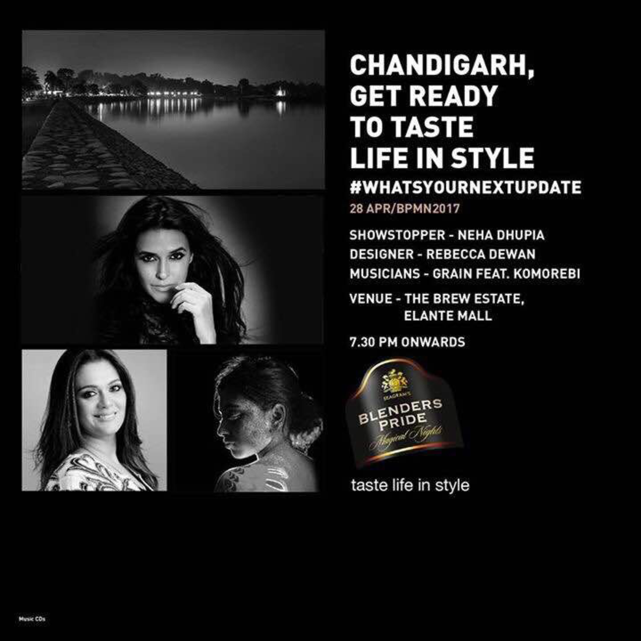 Rebecca Dewan & Blenders Pride Magical Nights's going to bring contemporary fashion, thrilling music & the best of glamour to your city Chandigarh.  Be there to get swayed by the overwhelming magic !!!  #tastelifeinstyle #bpft #whatsyournextupdate  #nehadhupia #KOMOREBI #fashionatitsbest #stylematters #royalwomen #womanpower #staytuned