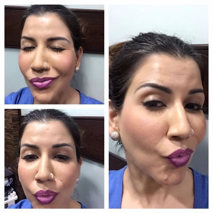 """Ombre lips Bellas! """"Luck is believing you're lucky."""" Products used:- #maclipstick strong woman #illamasqualipstick liv"""