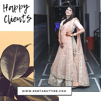 You can have anything you want in life if you dress for it.  How beautiful our client is looking in this pastel colour designer lehenga.  Rent this look at our stores or book online at www.rentanattire.com  #rentanttire #sustainablefashion #makeinindia #fashionrevolution #rentalfashion #whybuywhenyoucanrent #onlinestore #fashionstatement #designerwear #rentthelook #fashionstatement #rentisthenewbuy #happyclient #raahappyclient
