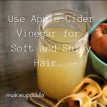 Apple 🍎 Cider Vinegar is used as a clarifying Hair Rinse. .  It removes the build up of dirt and product, giving Soft and Shiny Hair. .  However, using this more than once a month can dry out your hair. .  To make the rinse, add two tablespoons of ACV to two cups of water. . . . . . . . . . . . . . . . . .  #haircare #haircareroutine  #contentcreator #contentwriter  #diyoftheday #diy #tipsforhair #tipsforhaircare  #beautyblogger  #beautyinfluencers #acv #applecidervinegar #naturalingredients  #bangalorebeautyinfluencer #makeupadda #indianbeautyblog #indianbeautyblogger #bangalorebeautyblog #bangalorebeautyinfluencer #tipoftheday  #haircaretips #hairgrowth #haircareroutine #shininghair