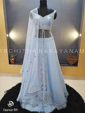 ~A pretty 2 piece silhouette standing pretty from thalassa~  #archithanarayanamofficial #bridalcouture #thalassa #lehengas  #designer #life #detailedtherapy #couture #bridal #wedding #style #fashion #indianbride #indianwedding #ootdfashion #fashion #life