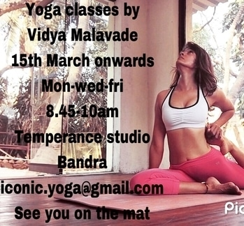 Thank you all for your support  .. 🙏🏼.. Teaching regular #yogaclasses in Mumbai .. 💝  15th March onwards  Mon-wed-fri 8.45-10am Temperance studio Pali Hill  Bandra West  Bookings -iconic.yoga@gmail.com  #Seeyouonthemat 🤸🏼♀️ (Might have an evening 6.30pm batch too depending on the number of students .. what do y'all think peeps 🎉 )  Much love always  #heartofawarriorprincess ❤