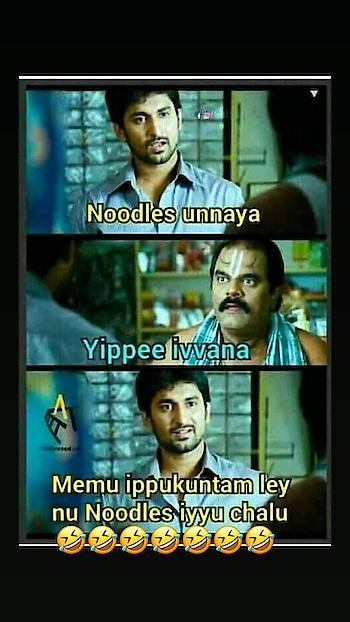 Noodles ivvana?yippee ivvana?😂😝 #haha #telugu #noodles #yippeee #jokes