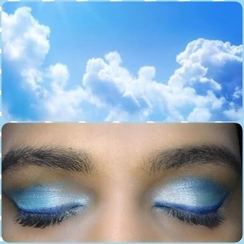 Hi Friends!  Sky N  Clouds inspired Eye makeup!  Used @maybellineindia The Brights palette!  Perfect summer look- up on my blog right now.  Link in the bio!   #eyemakeup #makeup #makeuplove #eye-makeup #inspired #sky #clouds #blue #summer #simple #thebrights #palette #beauty #beautypost #beautyblog #blogger #bloggerdiaries #soroposo #soroposogal #soroposotalks #roposo #roposome #goodnight