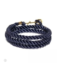 Men navy wrap around bracelet #mensaccessories