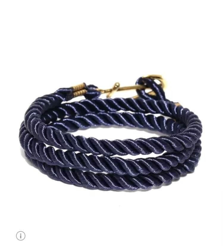 Men navy wrap around bracelet #mensaccessories