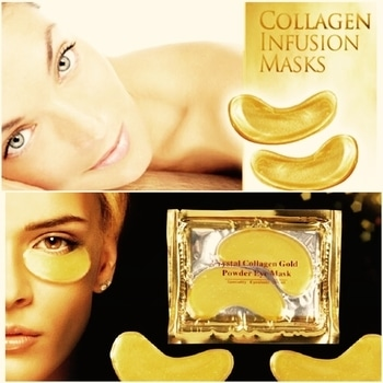 Crystal collagen gold under-eye masks. Bye bye dark circles, puffiness & fine lines! Whatsapp 8291620541 or chat to buy. Available only on SkinSin #eyes #eyemask #eye care #collagen #skincare #skincareproducts #skincareblogger #koreanskincare #korean