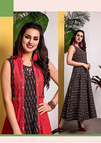 """#FestiveFashion!! Consider the cool, casual trends along with festive hues, Find more ways to love yourself, and your wardrobe too with our 2-piece (long Kurti with Jacket) collection """"Hello Jacket Vol-2"""". #S4UbyShivali #Newlaunch #HelloJacketVol-2 #indianwear #instafashion #ethnicwear #FestiveFashion  Rate:1850/-  Size: M-L-XL-XXL Dispatch in 4 to 5 Days."""