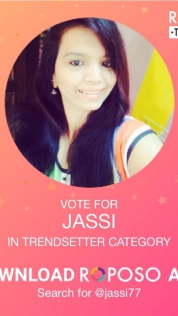 Vote for me for trendsetter cateogery#vote #me