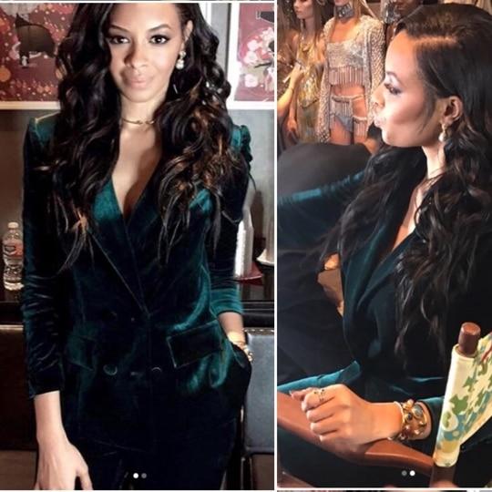 #hollywood #actress #vanessasimmons wearing  #monashroffjewellery #monashroff #earrings #cuff for #lafashionweek #openingceremony