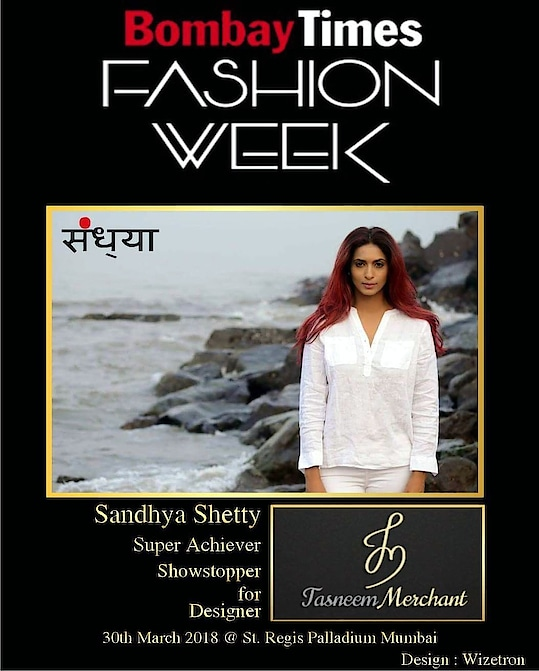 #sandhyashetty Fashion is all about making a style statement and iam delighted to grace #Bombaytimesfashionweek as a #showstopper for #Designer Tasneem Merchant 4pm 30th March 2018  #palladium #stregis #mumbai #beyourself #nofear #lifeisbeautiful #madeinidia #handloom #heritage 😊😊😊 thank you creative courtesy #Wizetron