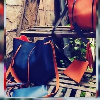 Leather high quality bucket bags  @1450/- Available in 4 colours  Pink tan black and blue To order dm on instagram @stylegrabberstore Or whatsapp on 9560326054 #bags