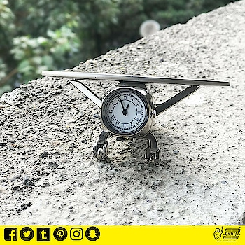 The Metal Aeroplane Clock is an amazing miniature clock perfect for decorating a desk and great accessory for gifting your near and dear ones.   It's a vintage Aircraft clock which adores your Desktop or Shelf.  Buy Now! http://bit.ly/2DtfgSZ #clock #times #aeroplanes #vintage_fashion #vintagelook