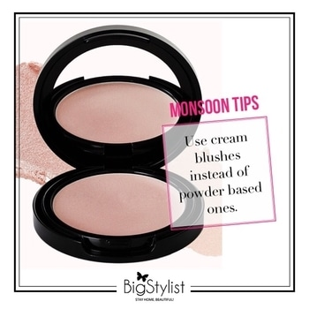 Monsoon makeup tip to keep you looking fabulous! Like this? Say a Hi on WhatsApp at 9920465699 for more such fantastic stuff! #monsoontips #monsoonbeautytips #beautytips #beauty #monsoon #blushes #creamblushes #women #rainydays #stayhomebeautiful #BigStylist
