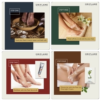 Here's a useful guide to get super-soft feet 😀 DM to order #feetup #oriflame #oriflameindia #feetscrub #feetcream #footcream #footscrub #feetcare #footcare #beautifulfeet #supersoft #supersoftfeet
