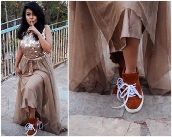 Shhhh!! I sneaked out with my @tedishparis 👟 . . . . . #contrast #style #luxuryfashion #gown #eveninggowns #tedishparis #sneakers #colours #thefashionchauvinist #follow #likes #fashionblogger #fashiondiary #bloggerlove #blogger #bloggernation #tag #likes #makeup #hair #indianblogger #puneblogger #mumbaiblogger #aboutthelook #lookbook #ootd #tag #instagram #instadaily
