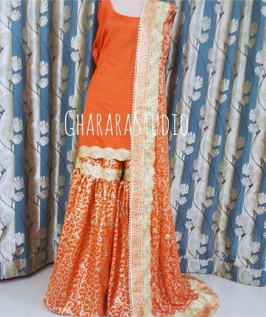 Gharara in Orange kamkhwab with beautiful and intricate zari embroidery.    🌈WhatsApp at +919971865919 to order 🌈Deliver complete stitched to your size  🌈Deliver Worldwide   #gharara #ghararastudio #ghararastudiobyshazia #orangegharara #bridalgharara #bridal #wedding #weddingdress #fashion #fashionstyle #instafashion #fashiongram #fashiondiaries #blog #blogger #fashionblogger #indianfashion #indiandress #traditional #delhi #royal #buyghararaonline #traditionalbride #wedmegood  #weddingphotography #indianwedding #hautecouture #outfit #asianbridalsblog