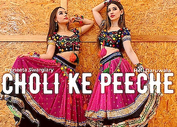 """Choli Ke Peeche Kya Hai""  All Questions will be answered soon ... 🔔Video Drops Tommorw🔔 With the gorgeous & amazing @heli_daruwala .. 🌸 #proneetaswargiary #proneetavijay #helidaruwala #cholikepeeche #dance #collaboration  To watch more dance videos SUBSCRIBE my YouTube channel .."