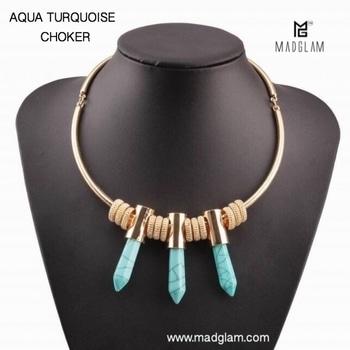'Aqua Turquoise Choker' is all you need to the Choker trend💃🏻