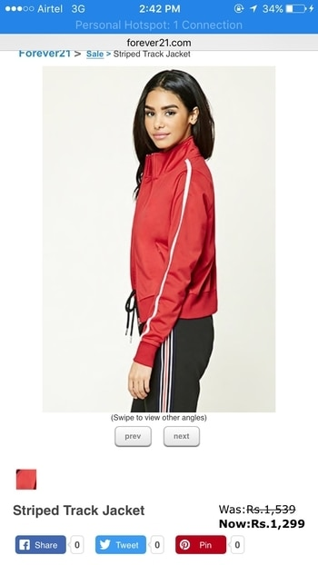 #forever21 #forever21india #cropjacket #jacket#workout#workoutwear#gym#gymlife#red#white#stripes#women#clothing#osg#onlineshoppersguide #onlineshopping#instashopping #instashopping#instagood#roposoblogger#ropososhopping#roposo @forever21