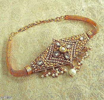 *Bajuband*  Material: Brass & Alloy  Work: Kundan Work  Rs.345  COD available  Whatsapp 9009029743  #bajuband #armlet #jewellery #jewelery #kundanwork #designerjewellery #latestdesigns